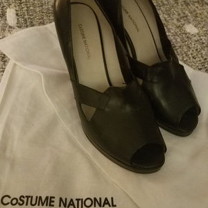 """""""Costume National Leather Wedge 4""""  39.5  dustbags"""